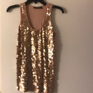 Apt 9 Sequined tank top, blush color
